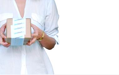 Woman holding a box