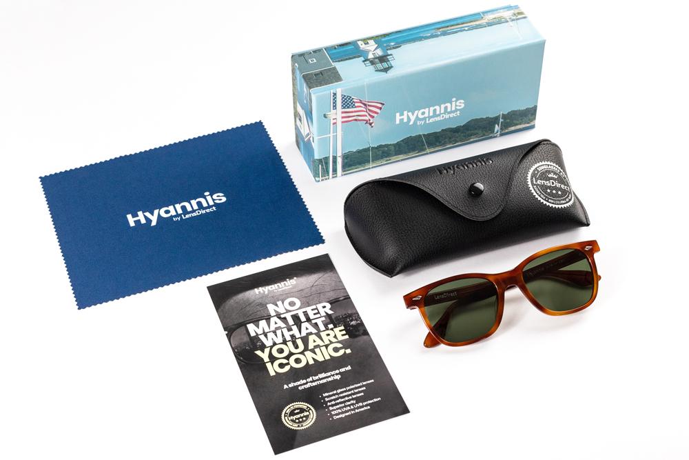 Sunglasses, a case and microfiber cloth