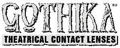 gothika sfx lenses brand logo black and white