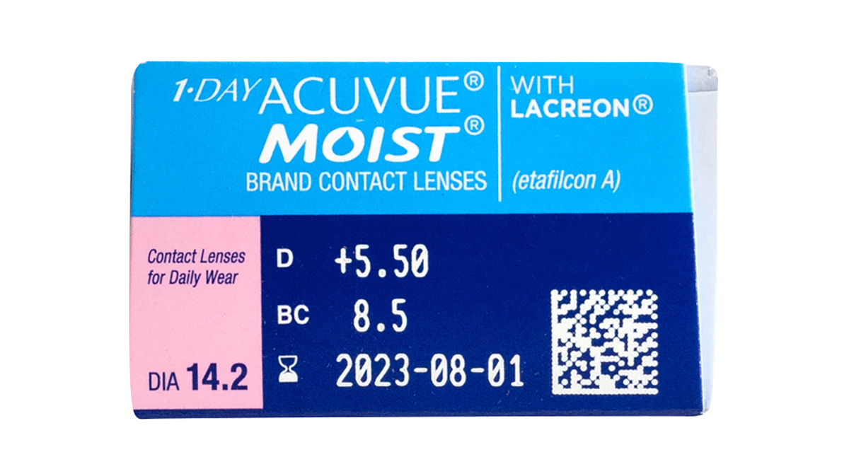 1 Day Acuvue Moist 30 Pack Power