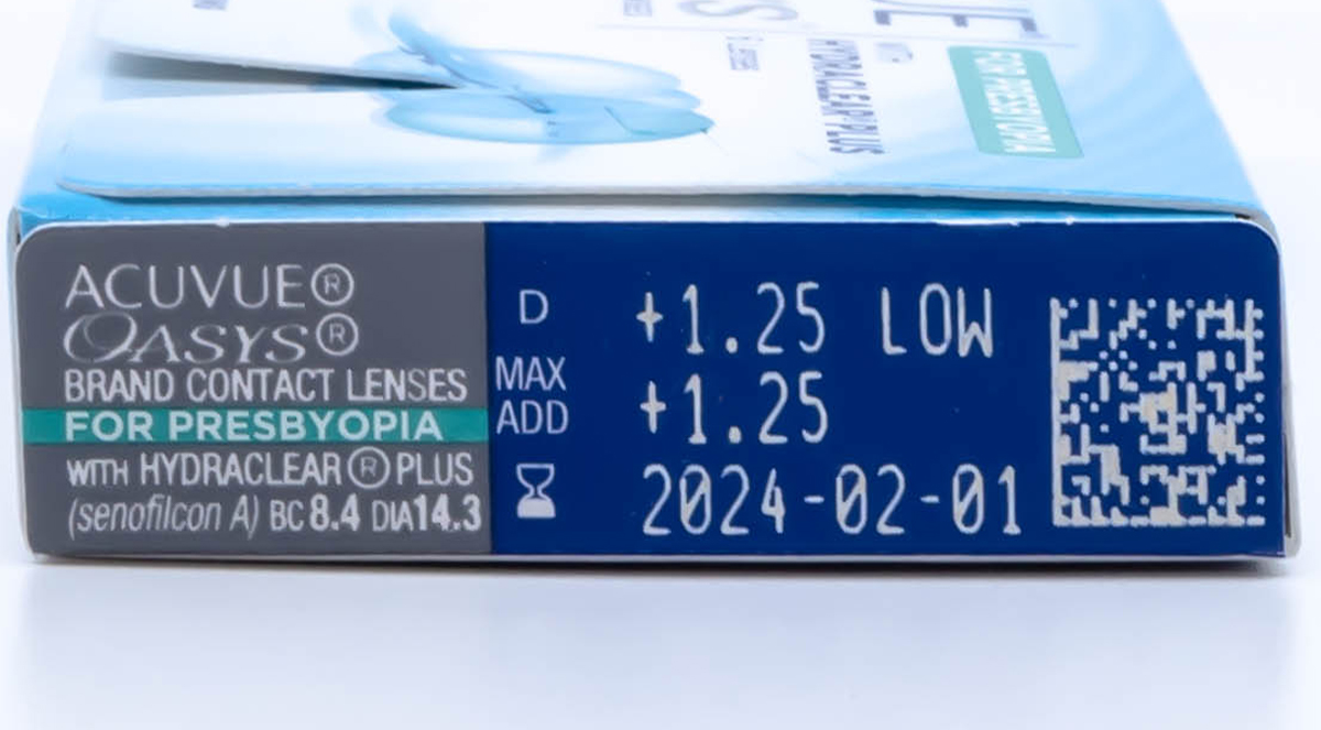 Acuvue Oasys for Presbyopia Contact Lens powers