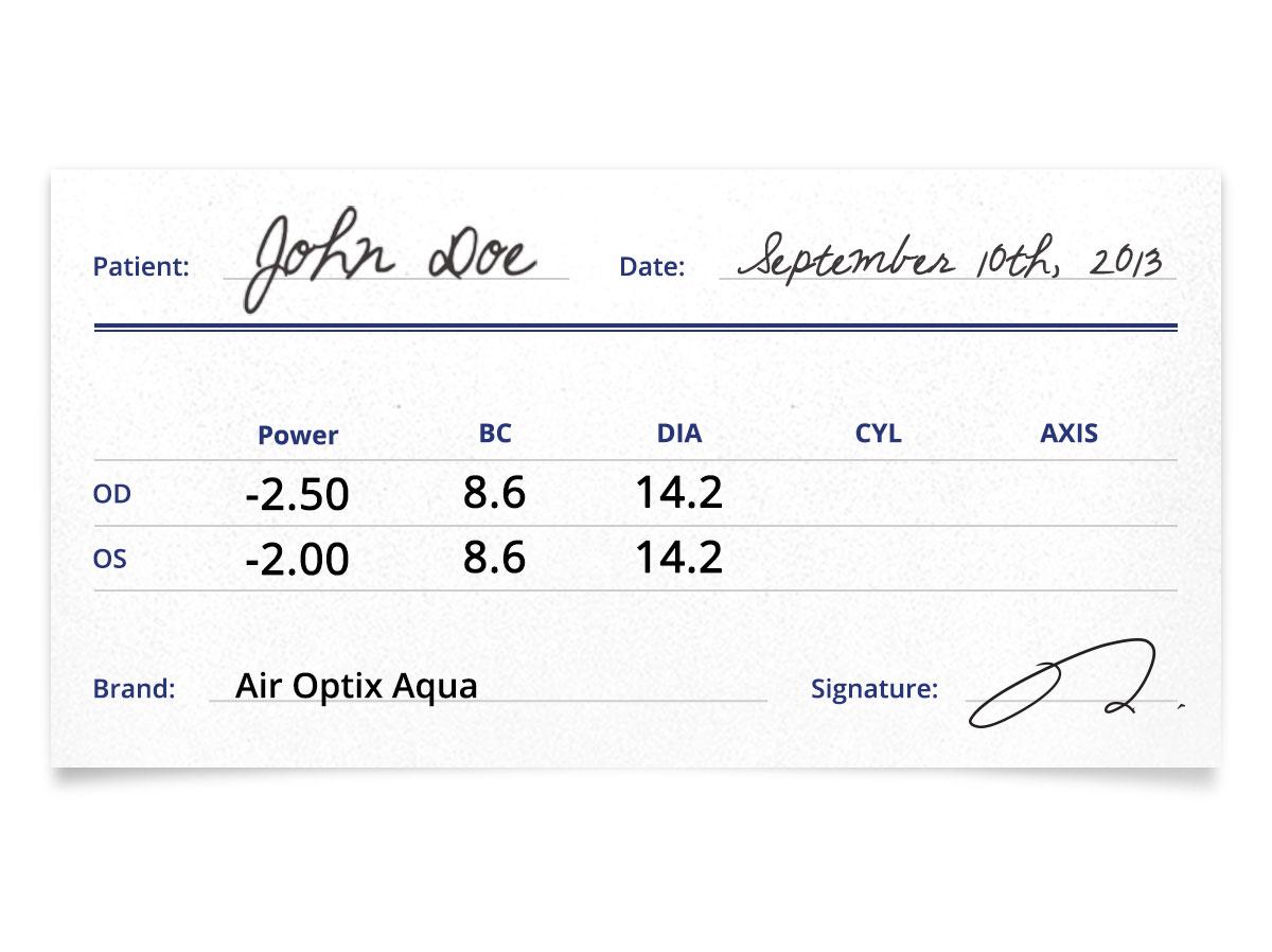 air optix aqua contacts prescription