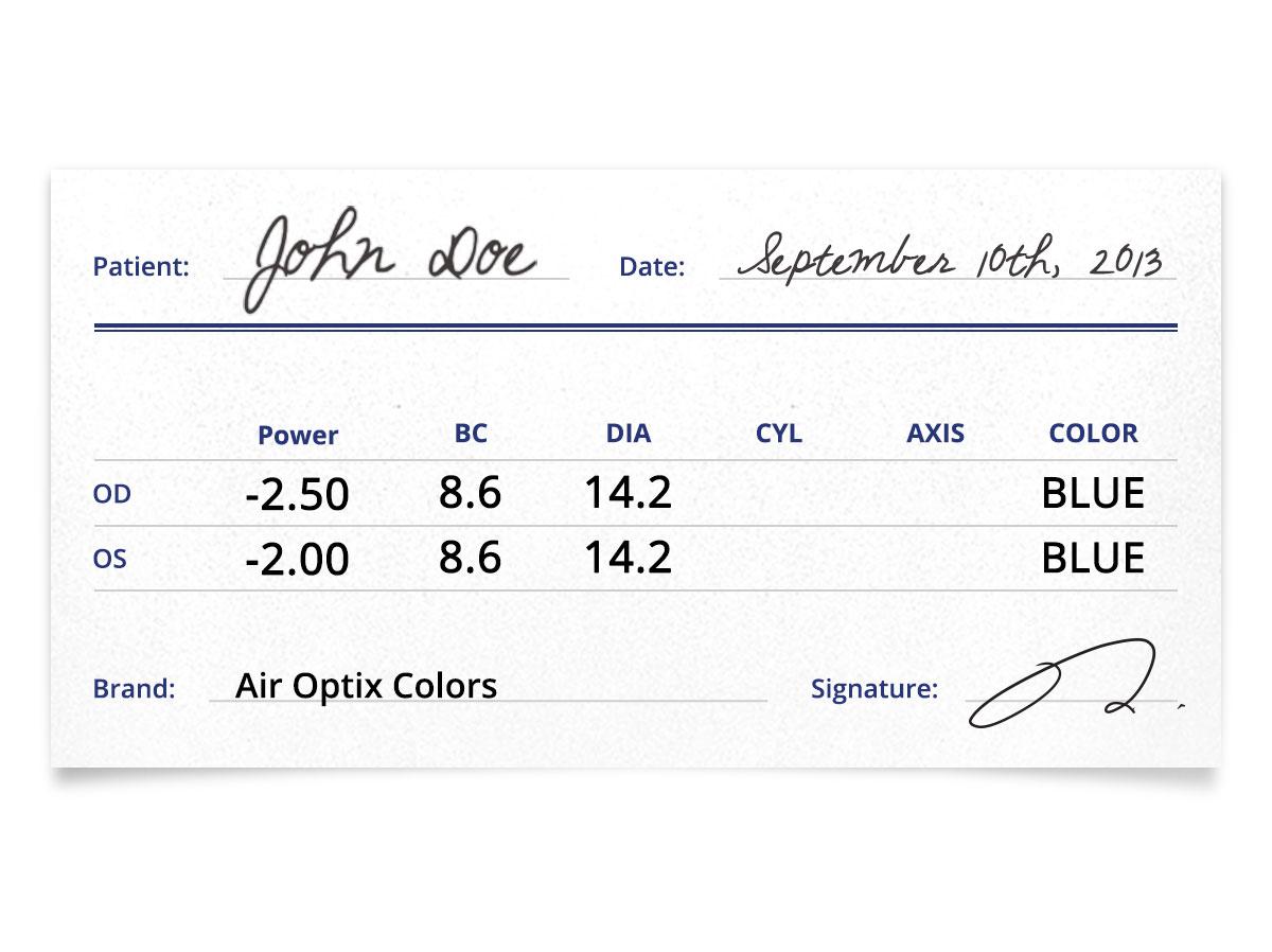 air optix colors prescription contacts