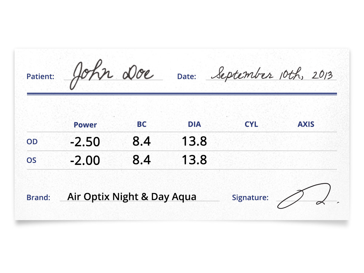Air Optix Night & Day Aqua 6pk prescription