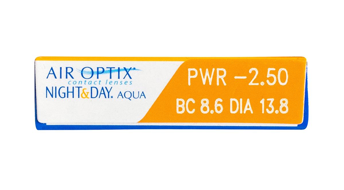 Air Optix Night & Day Aqua 6pk box side