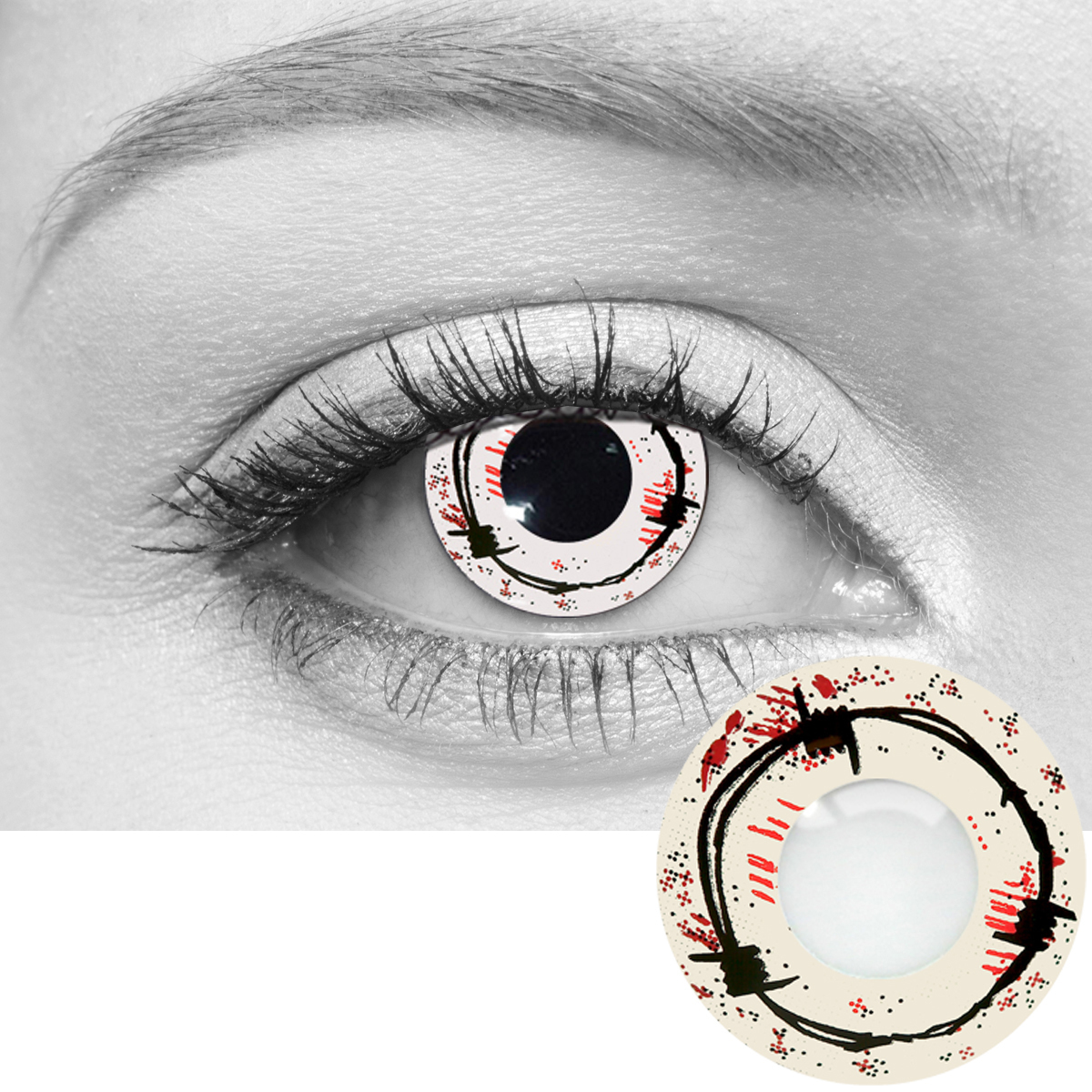 barbed wire contact lenses