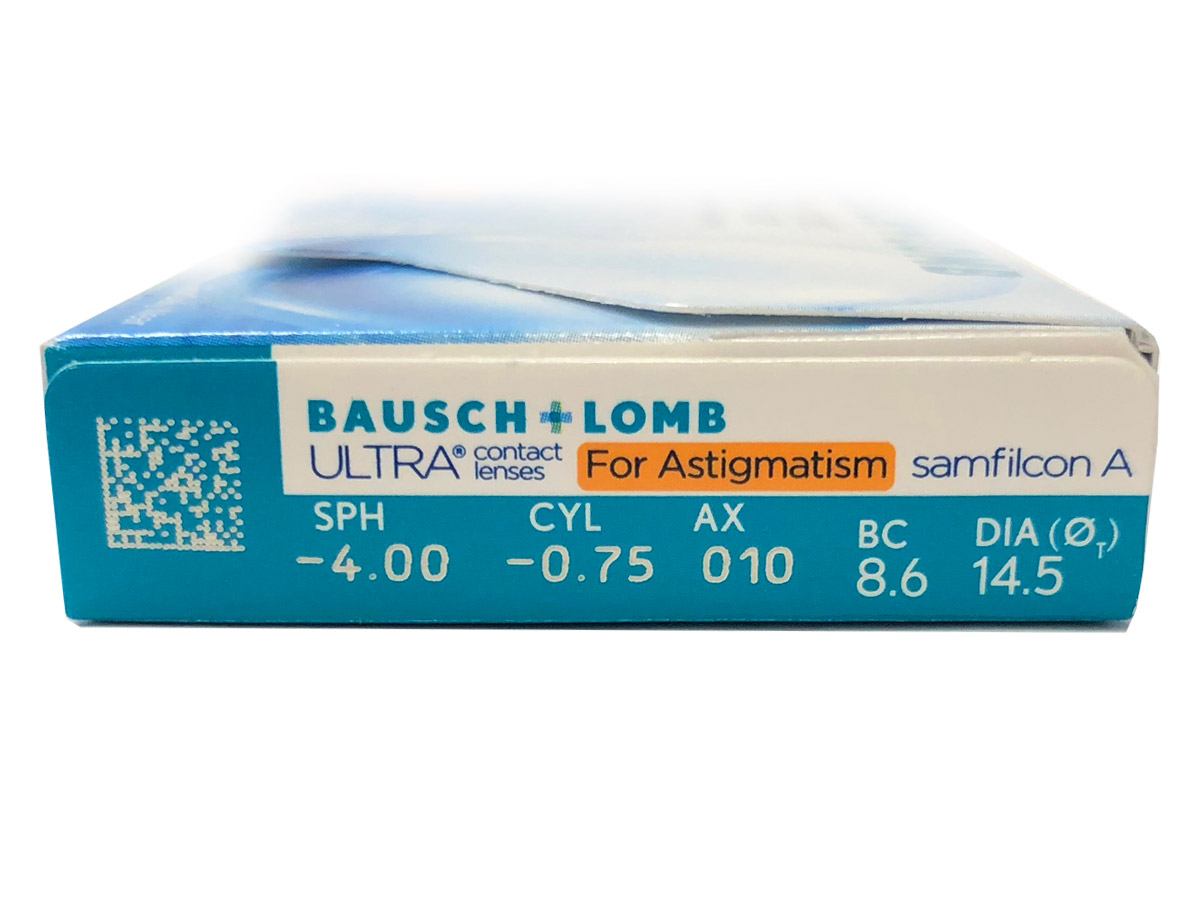 Bausch & Lomb ULTRA for Astigmatism Contact Lens Powers