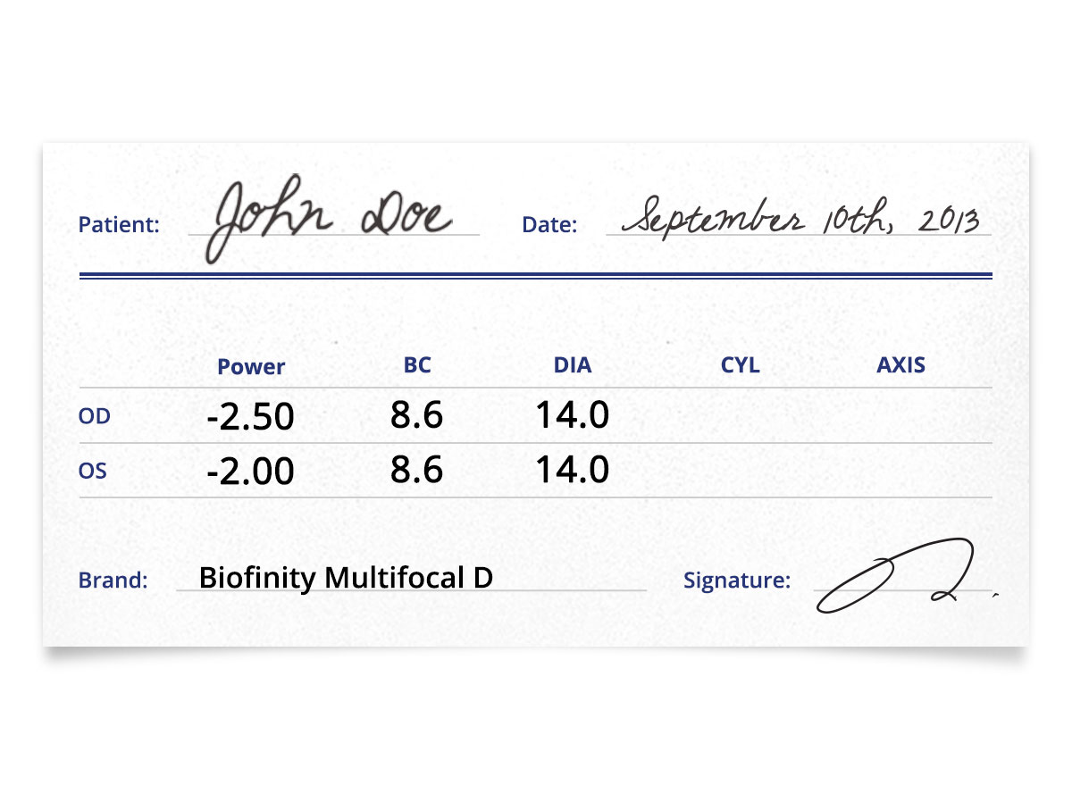 Biofinity Multifocal Contact Lens Prescription