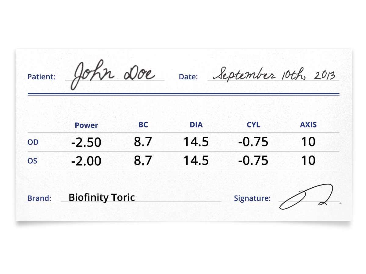 Biofinity Toric 6pk Contacts