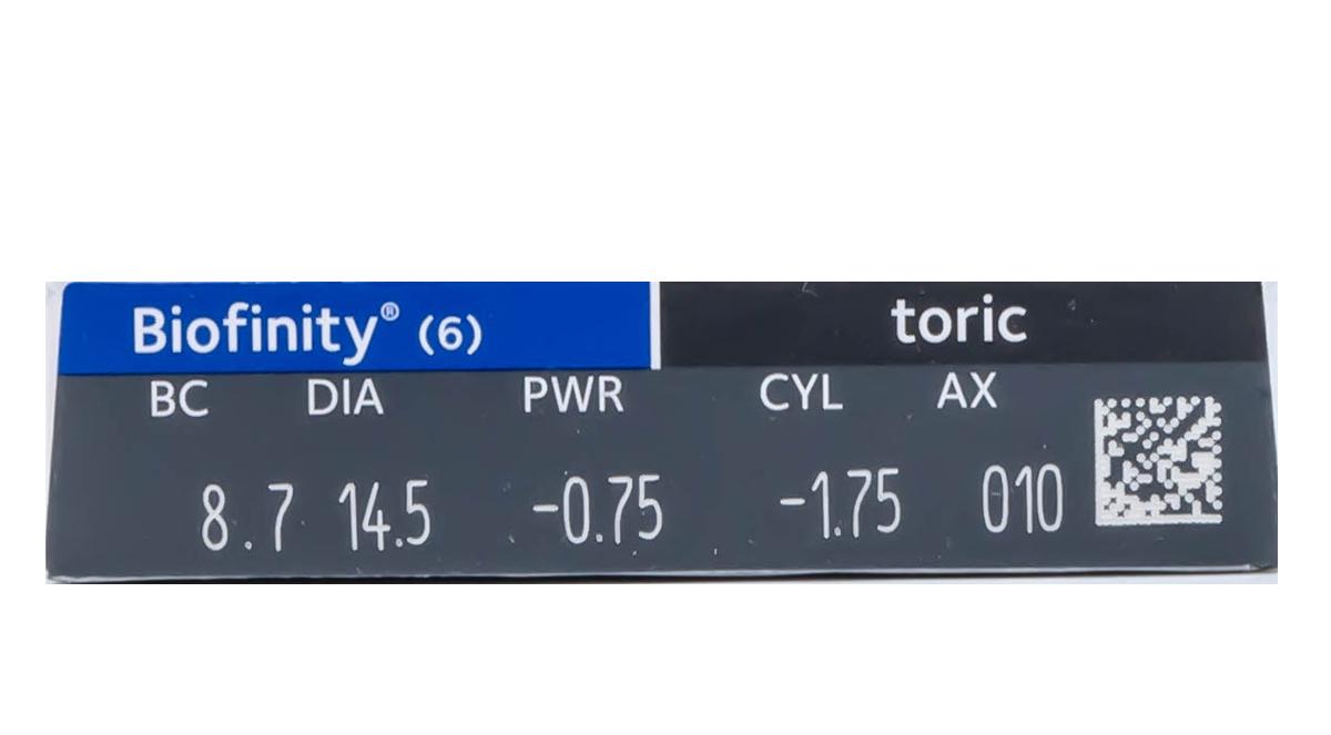 Biofinity Toric 6pk Powers