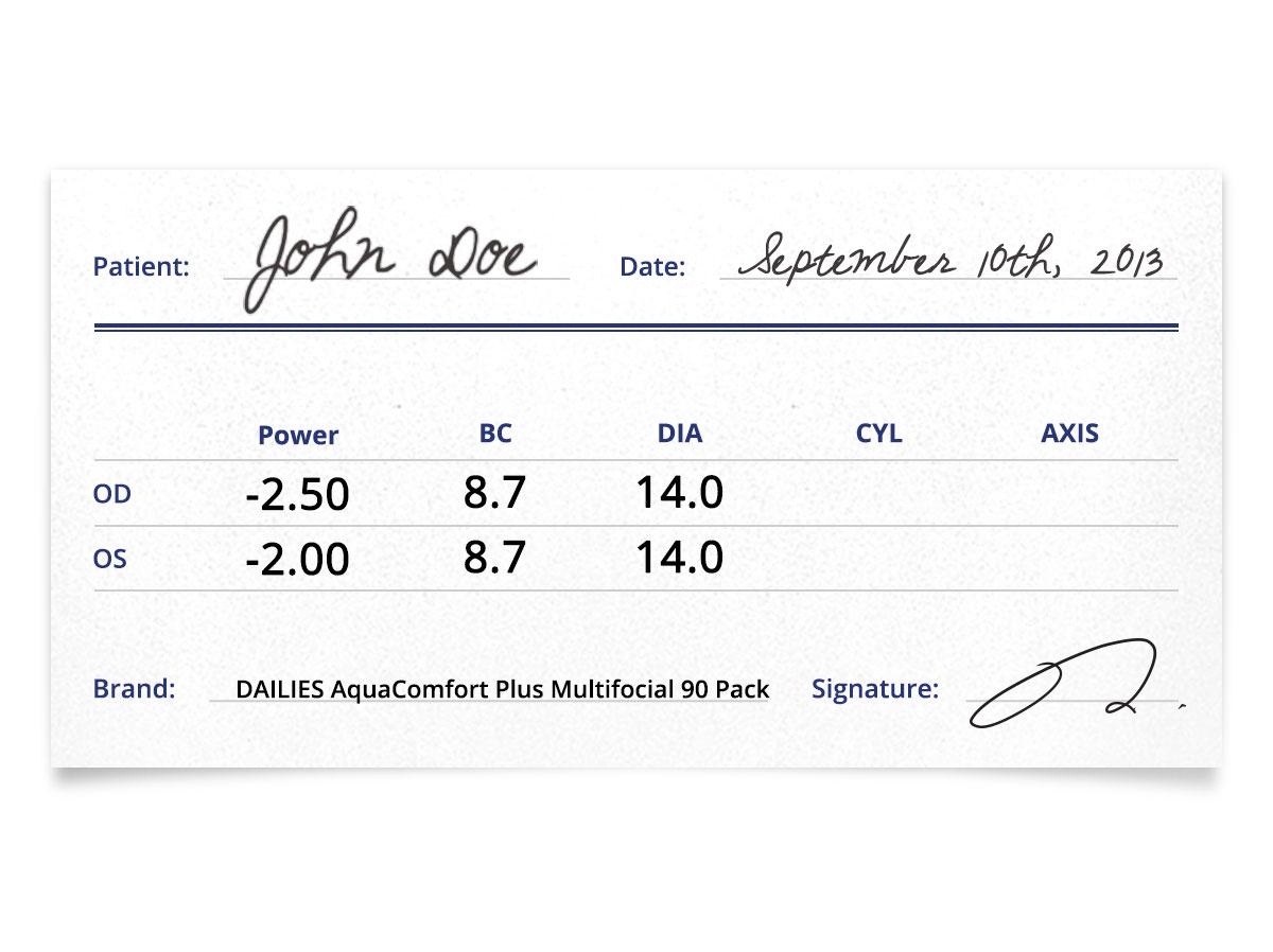 DAILIES AquaComfort Plus Multifocal 90pk Prescription