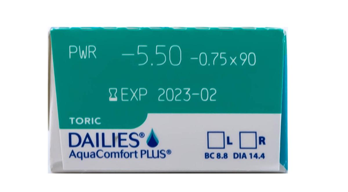DAILIES AquaComfort Plus Toric 30 pack Power