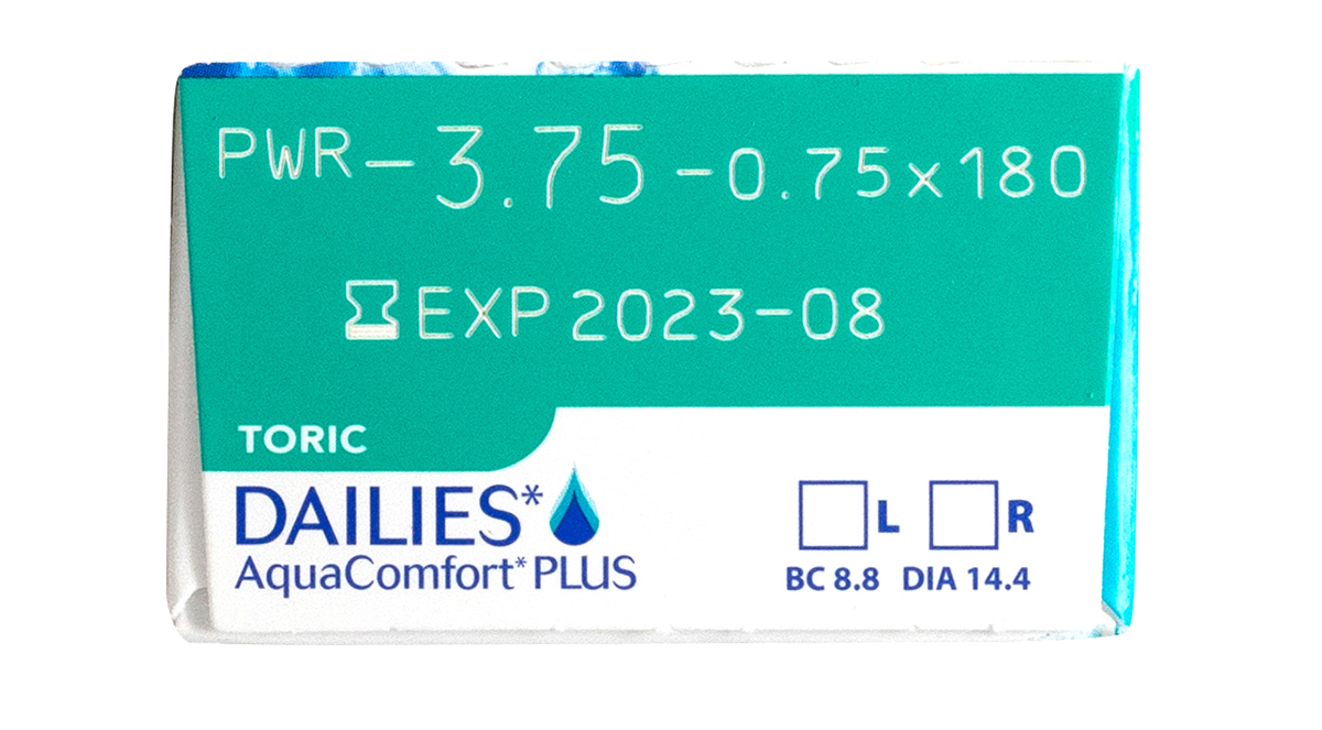DAILIES AquaComfort Plus Toric 30 pack Power