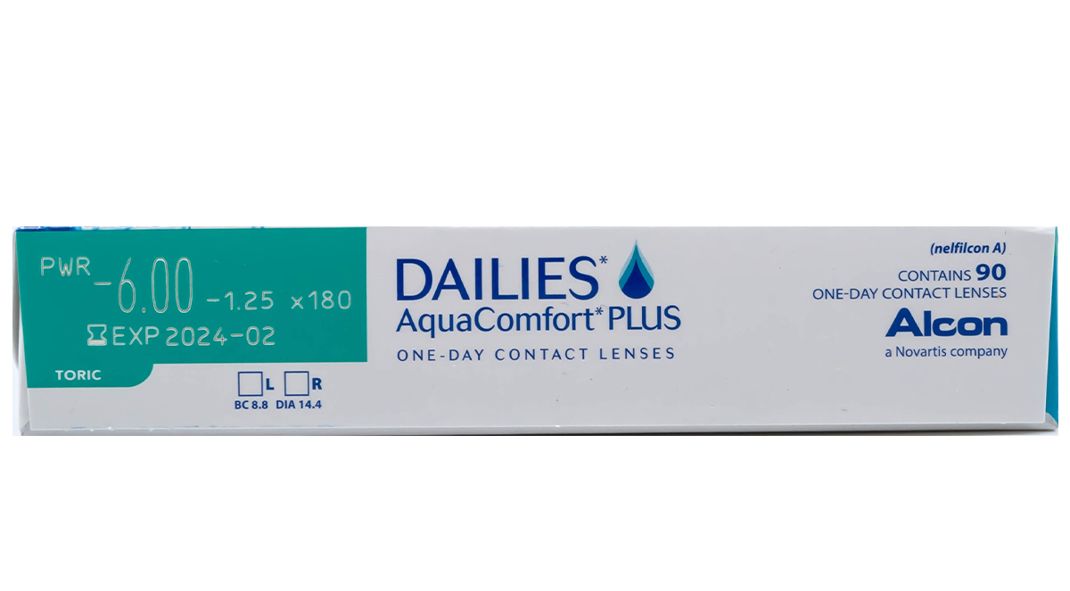 DAILIES AquaComfort Plus Toric power