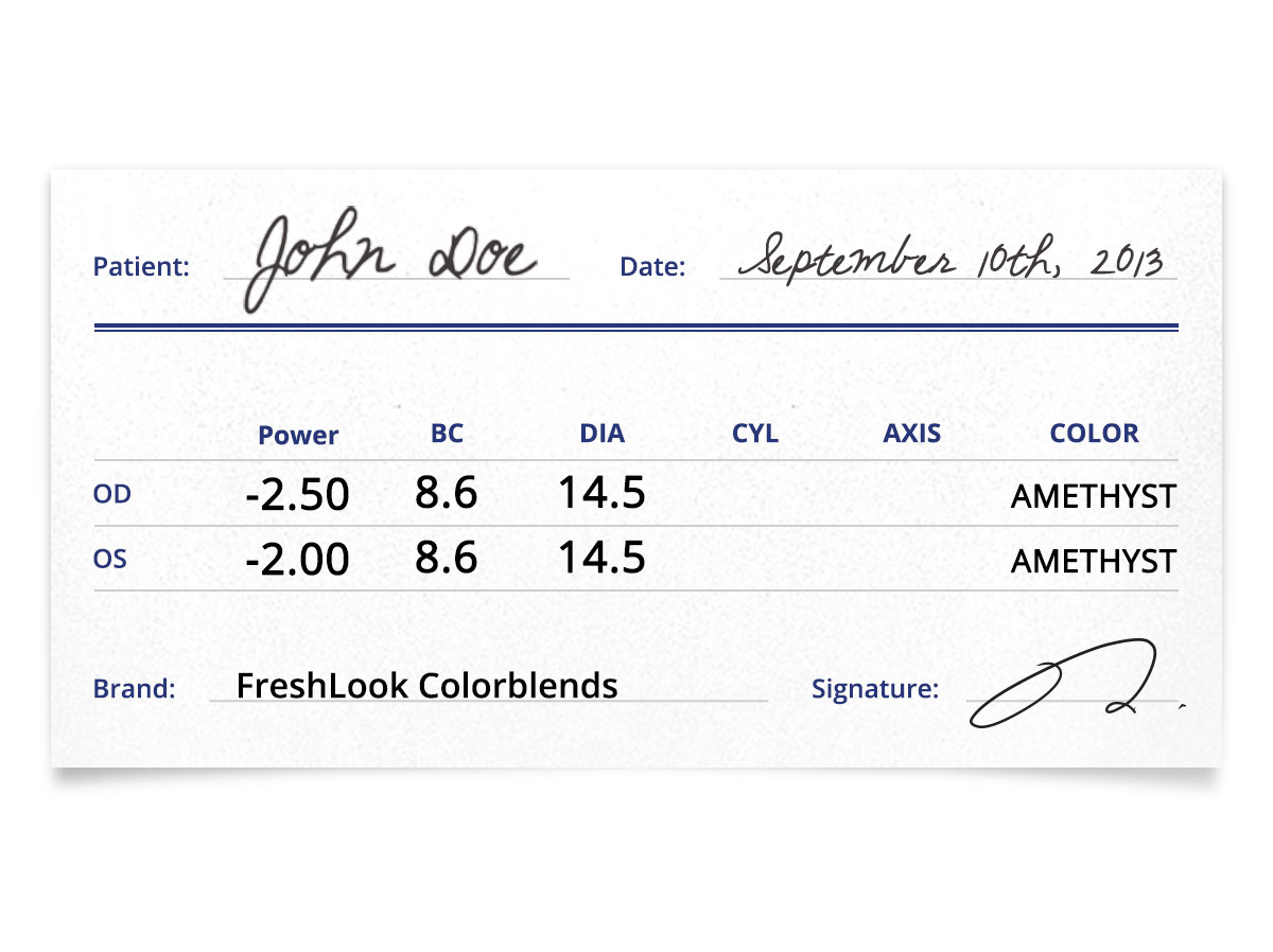 freshlook colorblends patient prescription