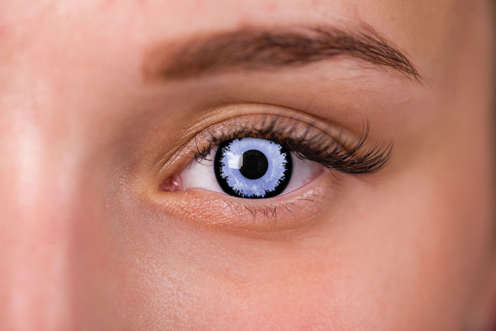 Woman Wearing Lestat Contact Lenses