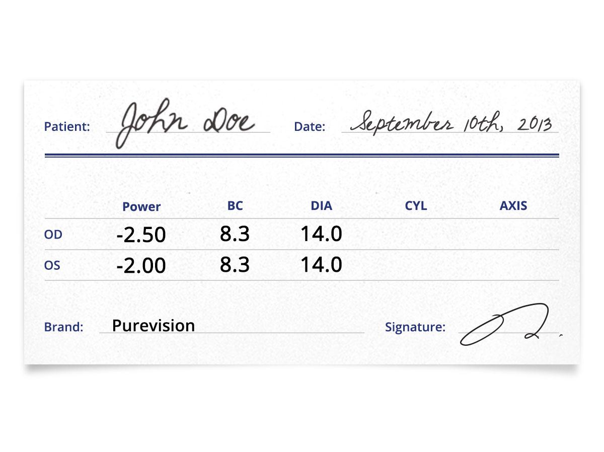 Purevision Contacts Prescription