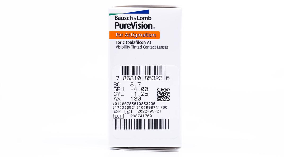 purevision toric for astigmatism prescription