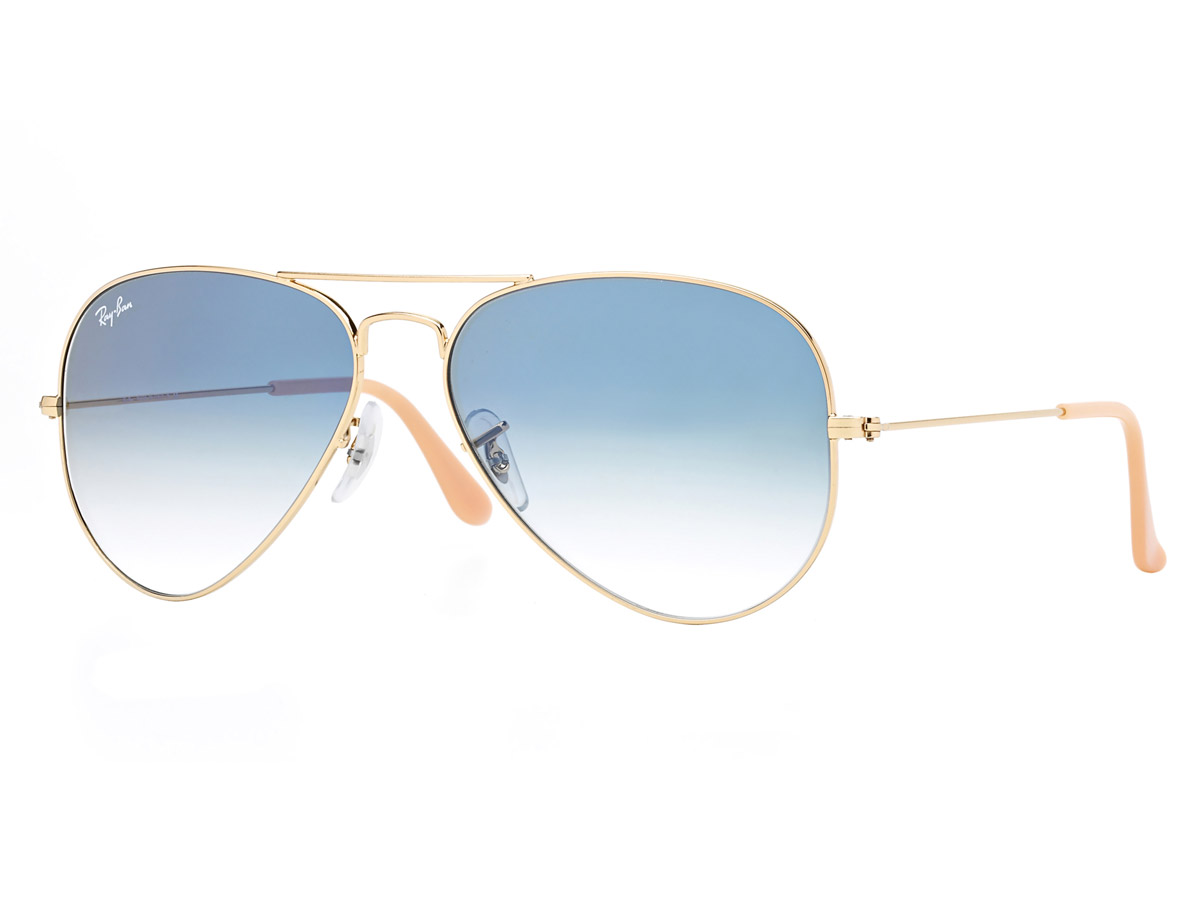 Ray-Ban Aviator Gold and Blue