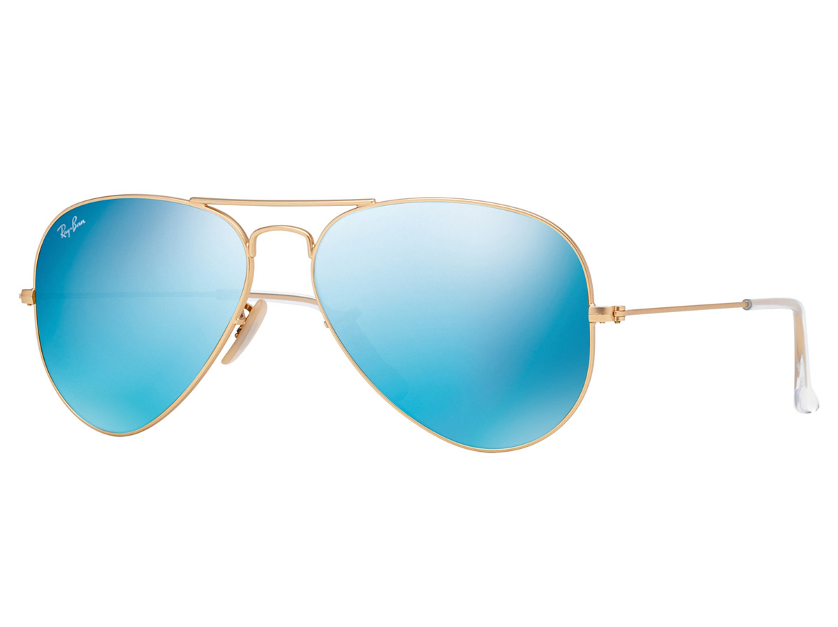 Ray-Ban Aviator Gold Frame/Blue Flash
