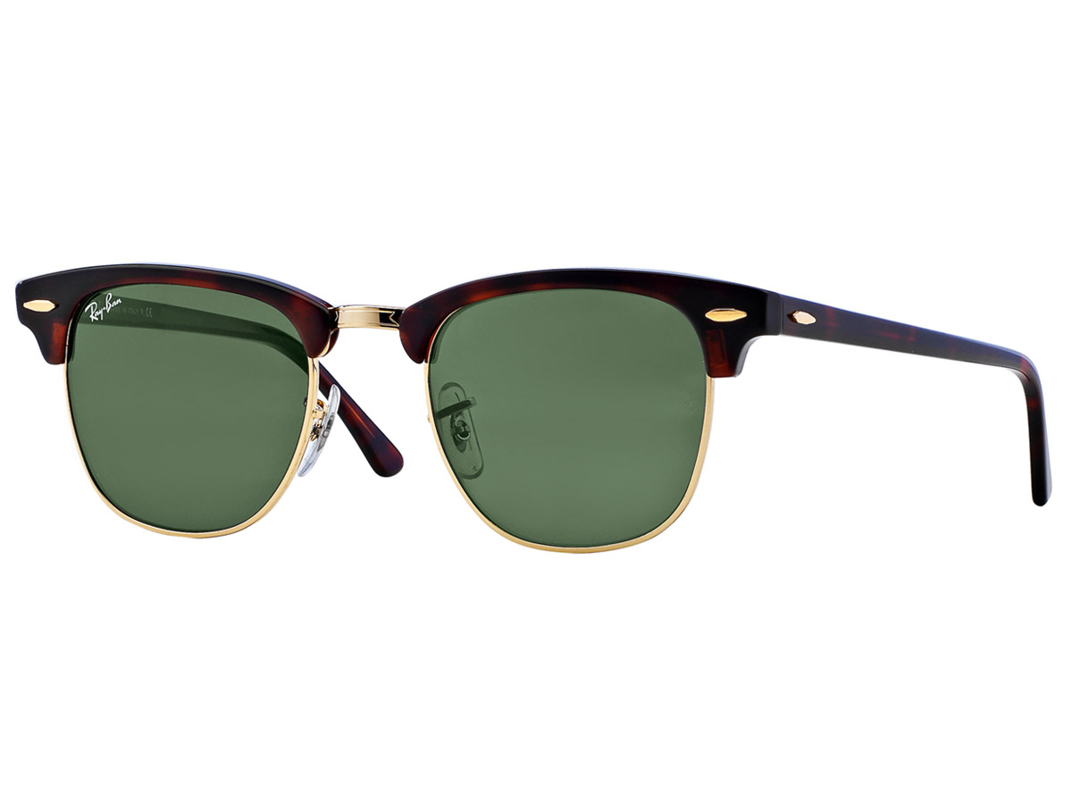Ray-Ban Clubmaster Tortoise and Green