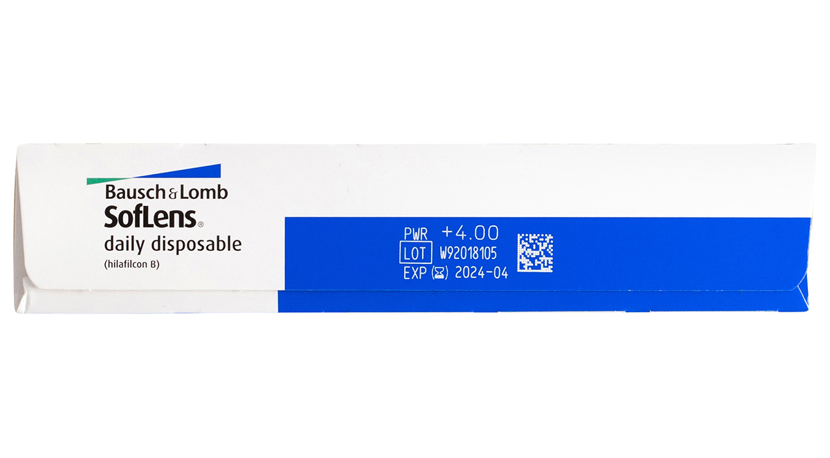 SofLens Daily Disposable 90 Box Side