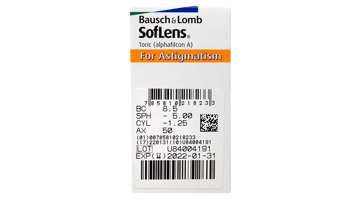 Soflens Toric for Astigmatism Powers