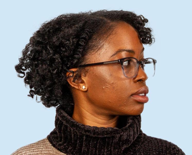 Woman Looking Left