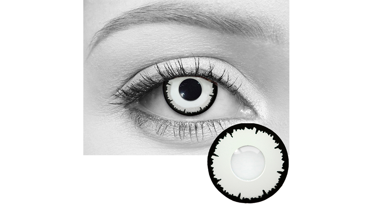 angelic white / eclipse white contact lenses