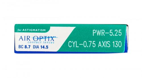 Air Optix for Astigmatism 6pk prescription information