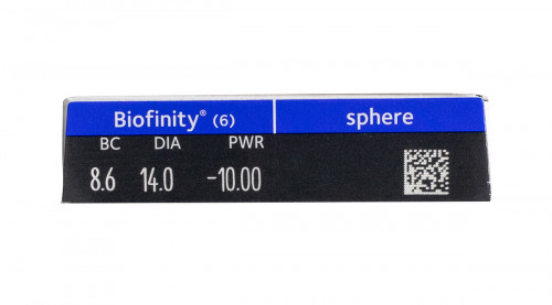 Biofinity 6pk Powers