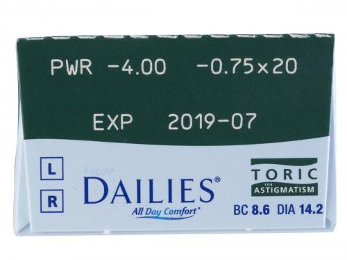 Focus Dailies Toric 30 Pack Power