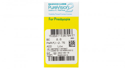 PureVision 2 Multifocal Contacts Powers